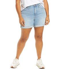 plus size women's madewell high rise denim shorts, size 14w - blue