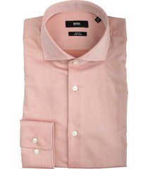 hugo boss jason overhemd roze slim fit 50413744/844
