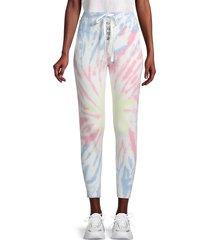 525 america women's tie-dye tapered joggers - ecru multi - size xs