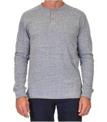 men's heathered negative slub henley t-shirt