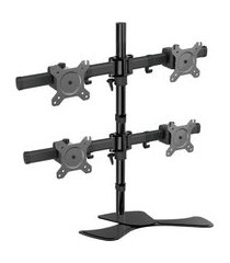 suporte de mesa para 4 monitores sumay sm-sm400 13 a 24 pol preto