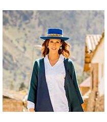 alpaca and wool blend felt hat, 'sacha in royal blue' (peru)