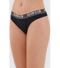 calcinha calvin klein underwear biquãni logo preta - preto - feminino - algodã£o - dafiti