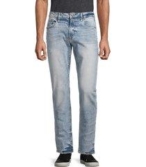 buffalo david bitton men's ash-x slim-fit straight jeans - indigo - size 34 30