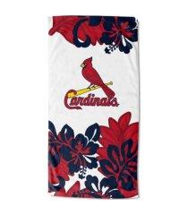 "northwest company st. louis cardinals 30x60 ""flower power"" beach towel"