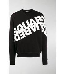 dsquared2 double logo printed sweatshirt