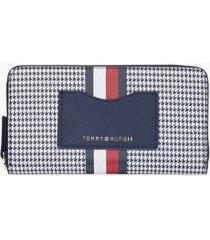 tommy hilfiger women's houndstoo zip wallet houndstooth -