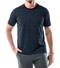 camiseta listras twice no stress preta - kanui