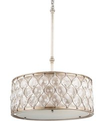 feiss lucia collection crystal oval pendant