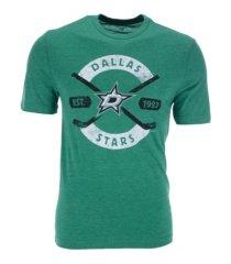 majestic dallas stars men's tri-blend crease t-shirt