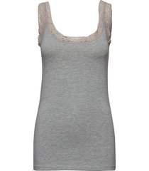 zaganic 4 top t-shirts & tops sleeveless grå fransa
