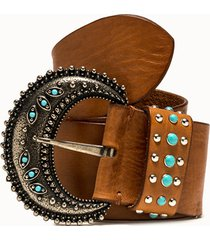 riccardo forconi cintura western in pelle cuoio