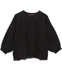 fond sweatshirt in charcoal