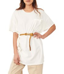 free people take it easy tunic t-shirt, size medium in ivory at nordstrom