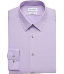 calvin klein men's sustainable purple slim fit dress shirt - size: 18 32/33