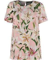 dolce & gabbana floral cady t-shirt