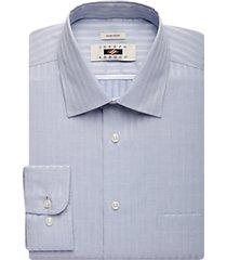 joseph abboud blue stripe modern fit dress shirt
