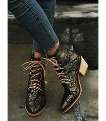 botas casuales con cordones
