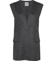 alcoba vests knitted vests grijs totême