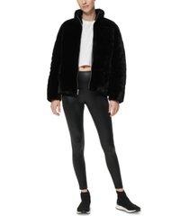 marc new york faux-fur teddy puffer coat