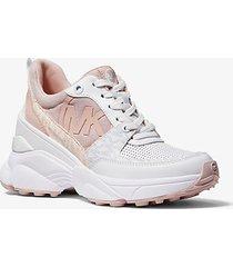 mk sneaker mickey in materiale misto - rosa tenue (rosa) - michael kors