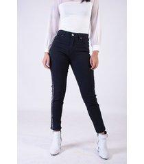 jean negro sochic skinny brillo