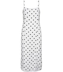 ecovero™ square-neck midi dress knälång klänning vit banana republic