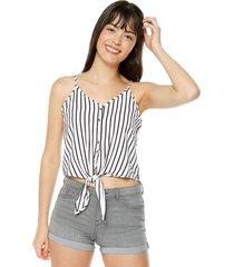 blusa blanco-negro active