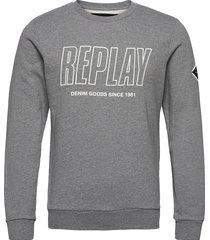 jumper sweat-shirt trui grijs replay