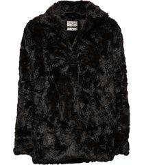 minimal. outerwear faux fur svart tiger of sweden jeans
