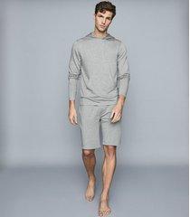 reiss hunt - jersey shorts in soft grey, mens, size xxl