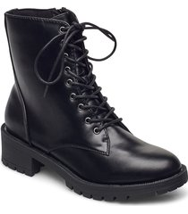biaclaire laced-up boot shoes boots ankle boots ankle boot - flat svart bianco