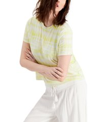 inc earth tie-dyed boxy t-shirt, created for macy's