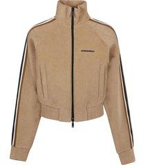 dsquared2 line track zip sweatshirt