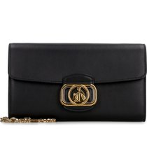 lanvin leather clutch with strap