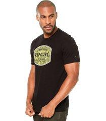 camiseta rip curl authentic froth preta - preto - masculino - dafiti