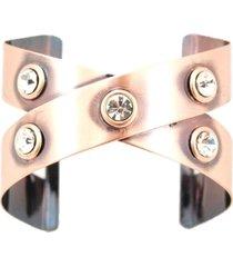 bracelete crisfael acessã³rios metal cobre - cobre - feminino - dafiti