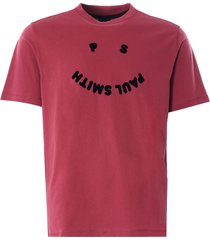 paul smith 'ps happy' organic cotton t-shirt | raspberry | 226t-fp2471 23