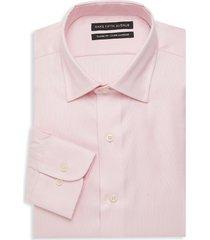 saks fifth avenue men's classic-fit dress shirt - pink - size 17.5 32