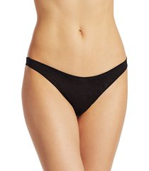 commando women's chic mesh thong - black - size s
