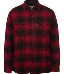wolverine krause shirt jac red plaid, size xxl