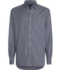 camisa regular cuadros azul tommy hilfiger