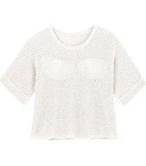 gebreide trui van linnen, wit 44