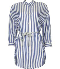 gestreepte blouse nelles  blauw