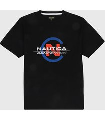 camiseta negro-azul nautica