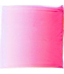 hermes ombre silk shawl pink/orange sz: