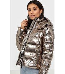 polo ralph lauren metallic down jacket dunjackor