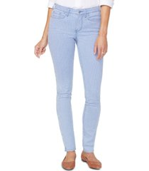 nydj tummy-control striped alina jean leggings
