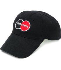 balenciaga uniform logo-embroidered baseball cap - black