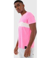 camiseta ellus tie dye stripe pink